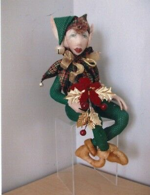 Pattern-Wonderful  Character Doll-Sitting Elf Doll-Off The Floor Doll Designs