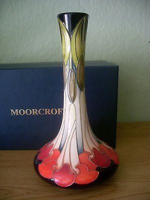 Moorcroft Tall Vase Cherry ? Unknown Pattern Limited Edition 6/30 Kerry Goodwin