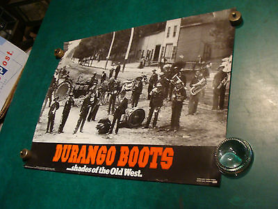 """original vintage Poster: DURANGO BOOTS shades of the Old West 18 x 24"""" 1980's"""