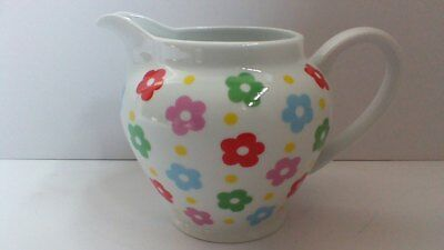 Cath Kidston 1.5 Pint Milk Custard Jug Coloured Flower Head Pattern
