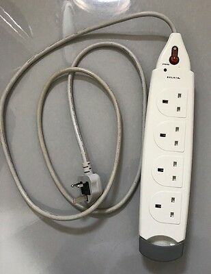 Belkin SurgeMaster Protected Extension Lead, 4-Way, 1m Cable, 714 J (UK plugs)