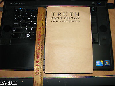 ORIGINAL WWI Truth About Germany Facts About The War 1914 Trow Press