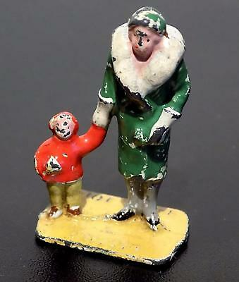 Vintage Painted Lead Dinky Toys Accessory No. 3a Woman & Child, 40mm, 1932-39