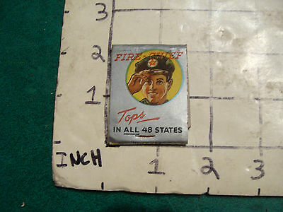 vintage Matches 1930's or 40's:  TEXACO FIRE CHIEF tops, claremont NH used