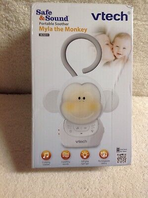 VTech Myla The Monkey Portable Safe And Sound Storytelling Soother With Light