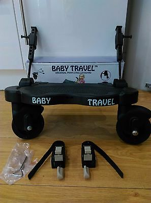 Baby Travel Universal Buggy board, compatible with most pushchairs (black)
