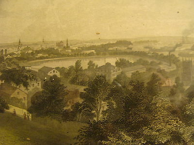 1872 City of Providence from Prospect Hill, handcolored-----framed original
