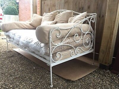 Antique French wrought iron day bed