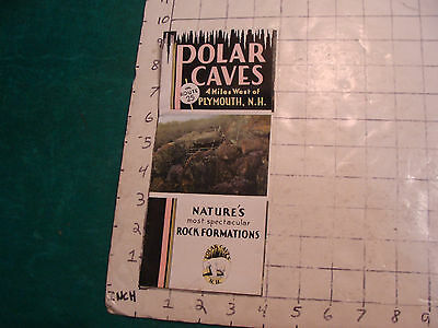 Vintage travel item: POLAR CAVES, Plymouth NH--1920's or so brochure, undated