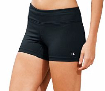 Champion Women's Performance Run Compression Shorts Size Med Color Black New