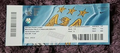 Manchester City ticket stub v Newcastle United 15/16
