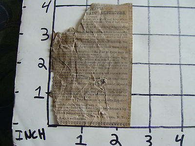 Original Medicine label: EARLY--PAIN DESTROYED T.T. Pond, Utica NY partial