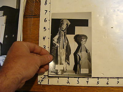 Vintage FAMOUS PUPPETEERS Photo of 2 puppets