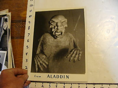 Vintage FAMOUS PUPPETEERS Photo: FROM ALADDIN