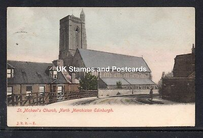 1912 St Michael's Church North Merchiston Edinburgh Posted Card As Scanned