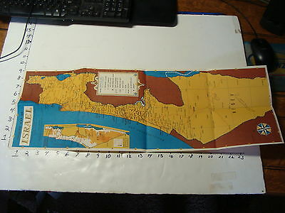 Vintage Travel Paper: Vintage Poster Map of ISRAEL vintage
