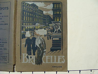 Vintage Travel Paper:1910's BRUSSELS 96 page booklet w/ 2 maps GREAT