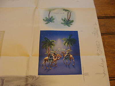 Vintage Print Sample Poster: VARIOUS CHRISTMAS CARDS, 25x32, #2152