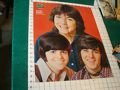 DONNY OSMOND Poster: folded 4-sheet DAVID DONNY BOBBY thriple treat 16 pop out p