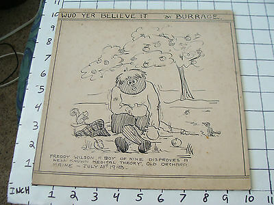 Original Art--1918 Burrage OLD ORCHARD MAINE related FREDDY WILSON,