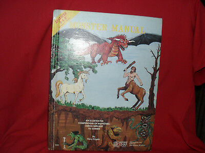 Monster Manual - Advanced Dungeons & Dragons AD&D 1st Edition 1e