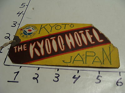 Vintage Travel Paper:1930's the KYOTO HOTEL luggage tag (torn)