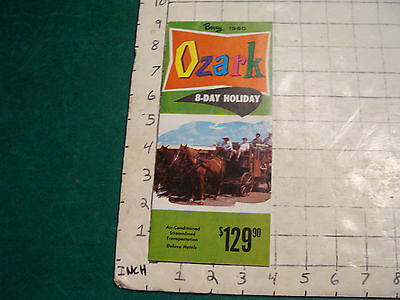 vintage  travel brochure: BERRY 1960 OZARK 8-day holiday, light wear only