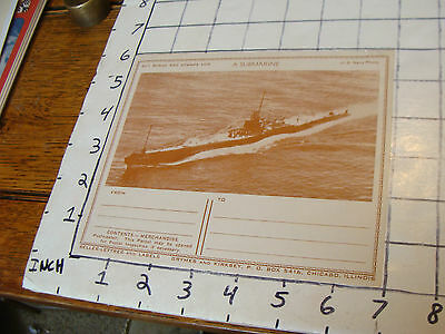 vintage WWII---buy bonds and stamps for A SUBMARINE paper