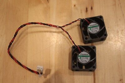 NEW Pair of SUNON KDE1204PKV2 DC 12V 0.6W 2 wire fans  Maglev  Fans 40x40x20mm