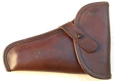 German Wehrmacht era holster FN Browning Model 1900 brown leather officer commer