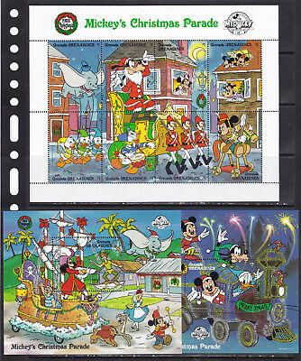 Grenada grenadines 1988 Disney cartoons Christmas animation pirates klb+2s/s MNH