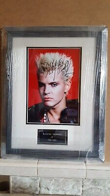 Billy Idol signed mount framed. Certified by Todd Mueller Autographs Inc