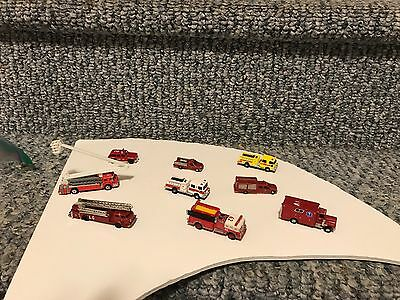n scale trains fire trucks 9 of them
