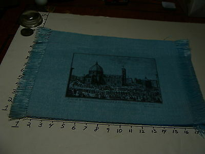 6 unused vintage blue PLACE MATS all differant sceens