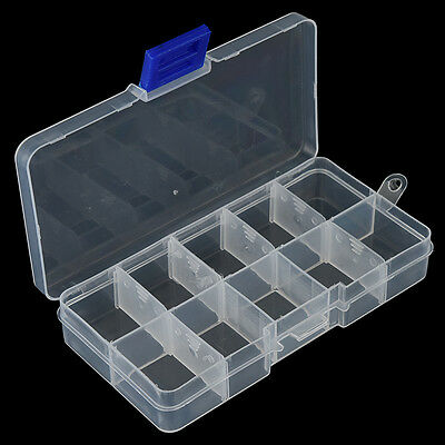 10 Compartments Fishing Fish Hook Bait Lure Box Tackle Storage Container Case FG