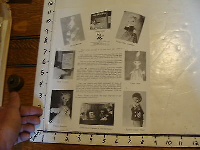 Vintage MARIONETTE Paper: mulheimer kaspertheater BROCHURE IN eNGLISH
