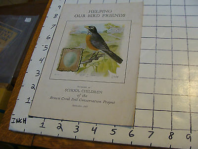 HELPING OUR BIRD FRIENDS 1935. booklet cool pictures.