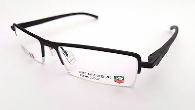 Auction - New With Case Tag Heuer Black Automatic Frames Glasses - Model 0822001