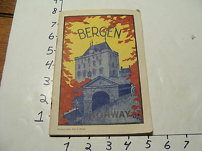 Vintage Travel Paper: 1920's BERGEN NORWAY great cover
