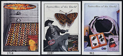 Micronesia 374-6 MNH Butterflies, Insects