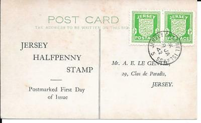 1942 Jersey Arms FDC