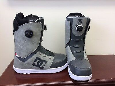 Men's DC White Collection Control Snowboard Boots Size 11