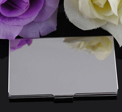 Stainless Steel Pocket Name Credit ID Business Card Holder Box Metal Case FG