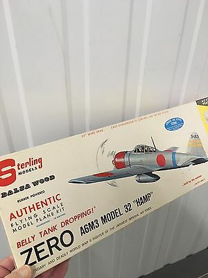 Sterling Zero-A6M3 Classic Scale Rubber Power And Control- Line Airplanes Kit