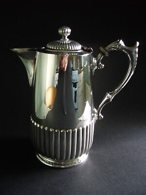 Antique Silver Plated Coffee Pot Water Jug J Dixon & Sons Sheffield C.1880