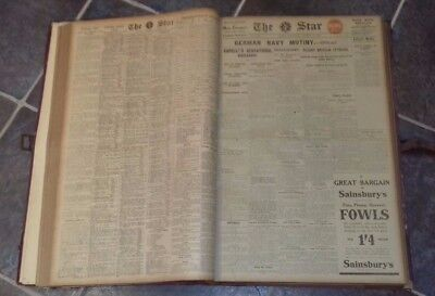 Ww1 Newspapers,  Complete October 1917  The Star, Great Condition
