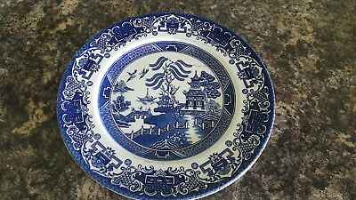 old willow english ironstone x 4 Plates