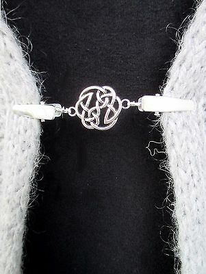 Cardigan, Sweater, Blouse, Shawl Clips/Clasps (Celtic knot)