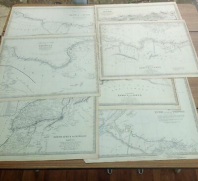 Job Lot 7 Vintage Maps Of Africa 1844 ( Maps For Diffusion Of Useful Knowledge)