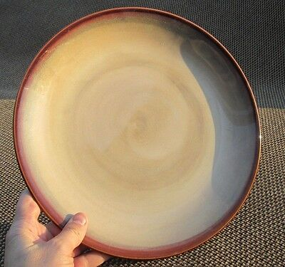 "1 Large SANGO NOVA BROWN 12"" CHOP PLATTER CHARGER PLATE 4933 China Dinnerware"